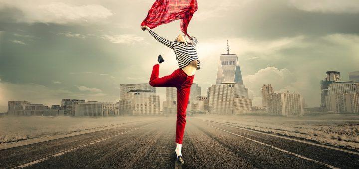 Taxi App Girl on Street